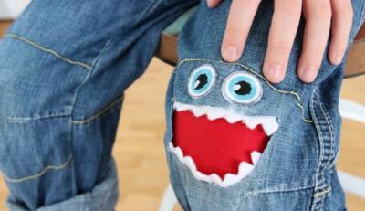 Toppe per i Jeans dei bambini! | Rammendo creativo per rattoppare jeans e magliette strappati...